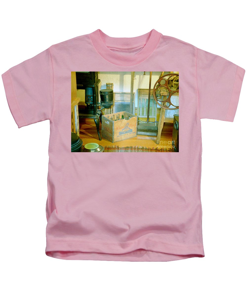 Kitchen Kids T-Shirt featuring the painting Country Kitchen Sunshine II by RC deWinter