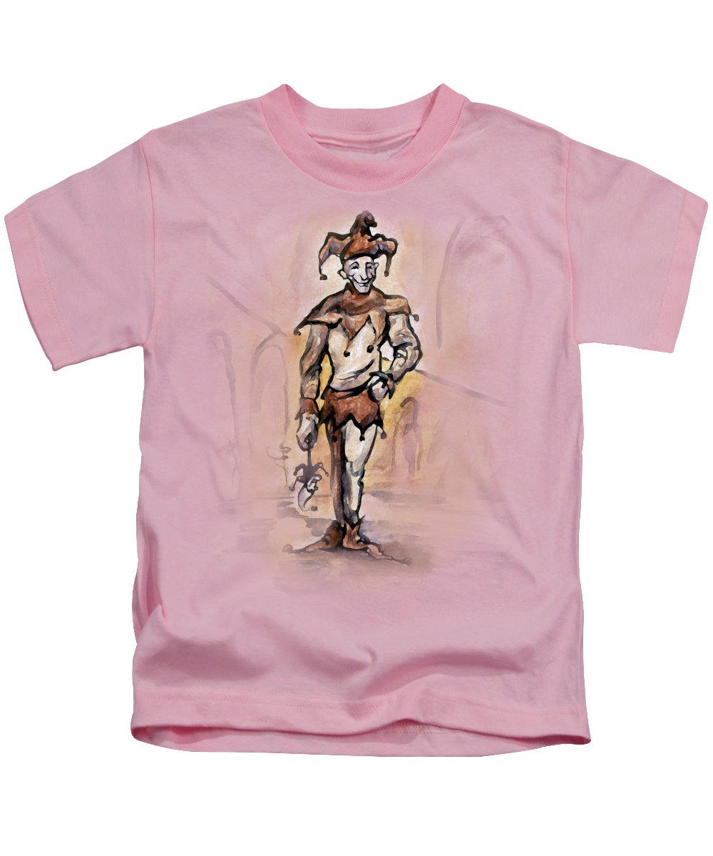 Jester Kids T-Shirt featuring the painting Court Jester by Kevin Middleton
