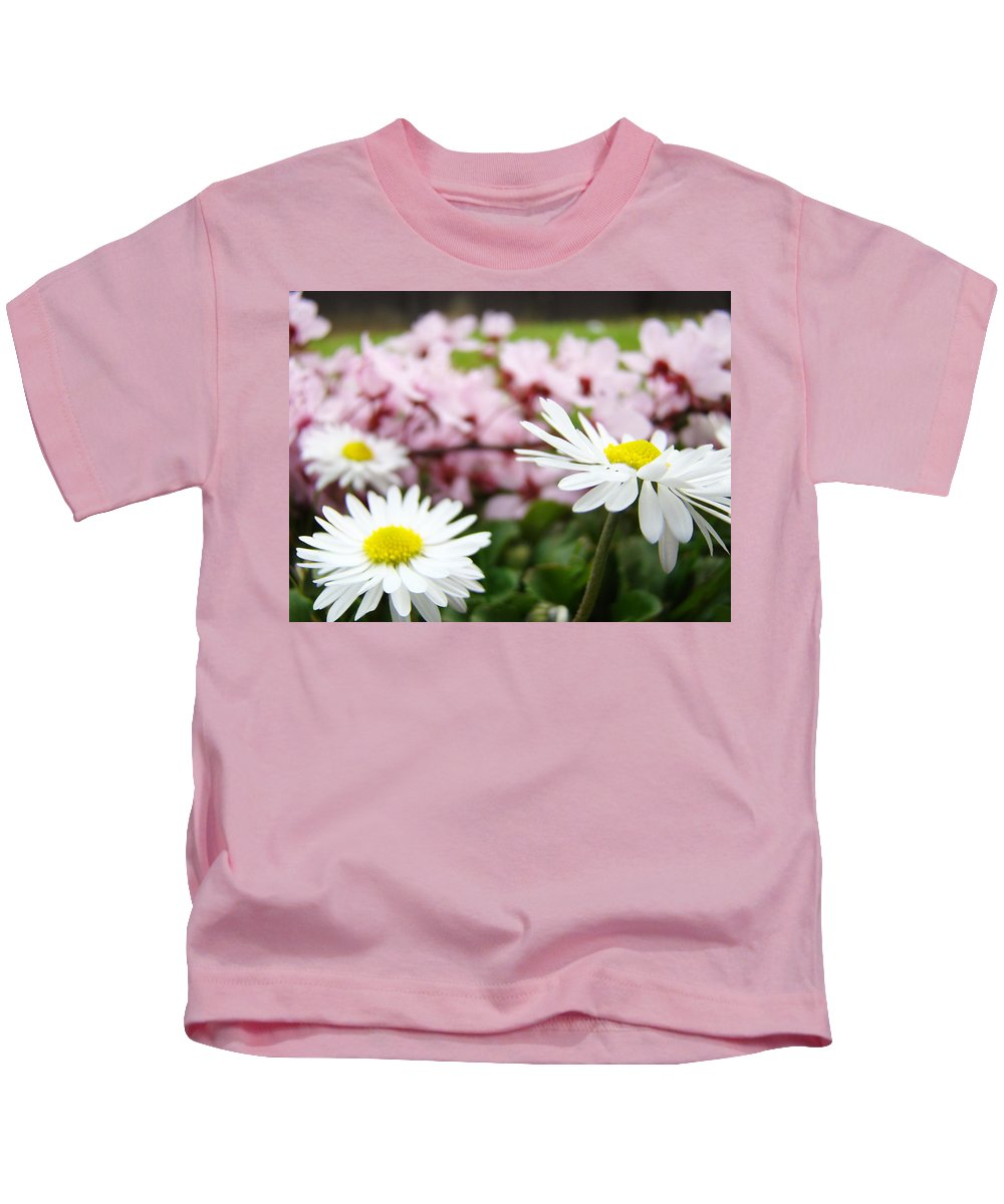 Daisies Kids T-Shirt featuring the photograph Daisies Flowers Art Prints Spring Flowers Artwork Garden Nature Art by Baslee Troutman
