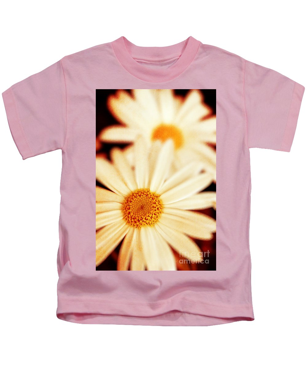 Close Up Kids T-Shirt featuring the photograph Daisies by Silvia Ganora