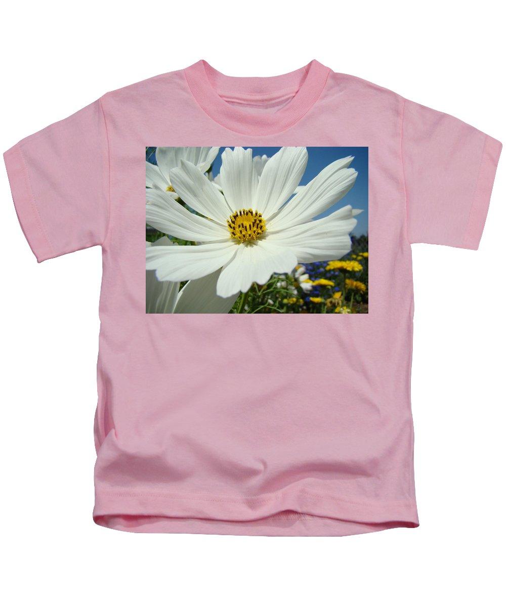 Daisy Kids T-Shirt featuring the photograph Daisy Flower Garden Artwork Daisies Botanical Art Prints by Baslee Troutman