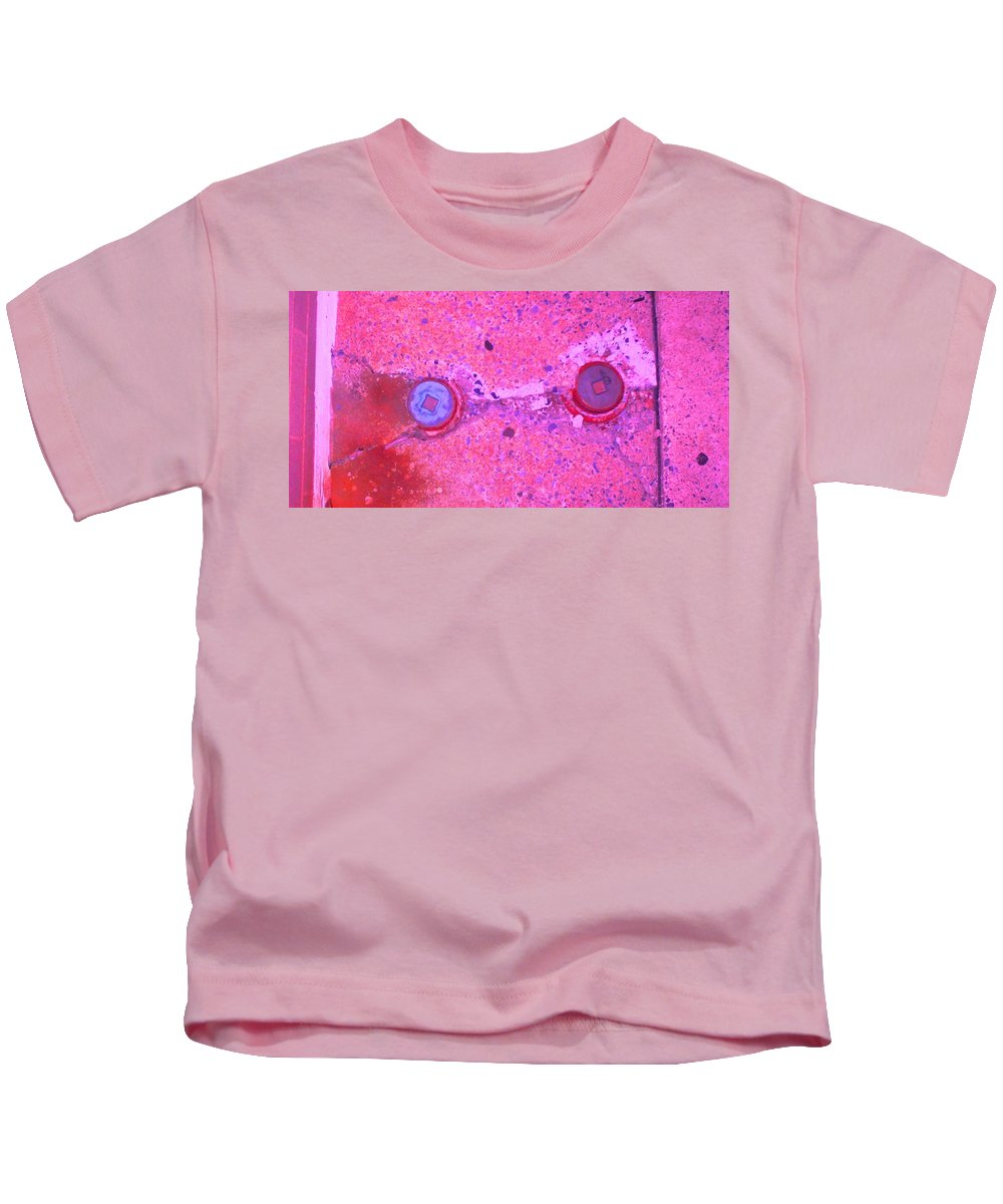 Photograph Kids T-Shirt featuring the photograph Damaged Pipes by Thomas Valentine