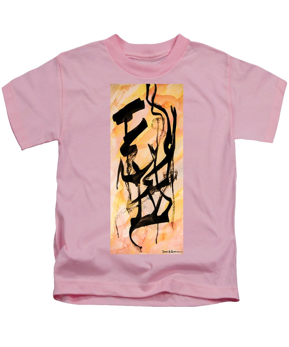 Abstract Kids T-Shirt featuring the painting Dancers At The Feast by Dan Sisken