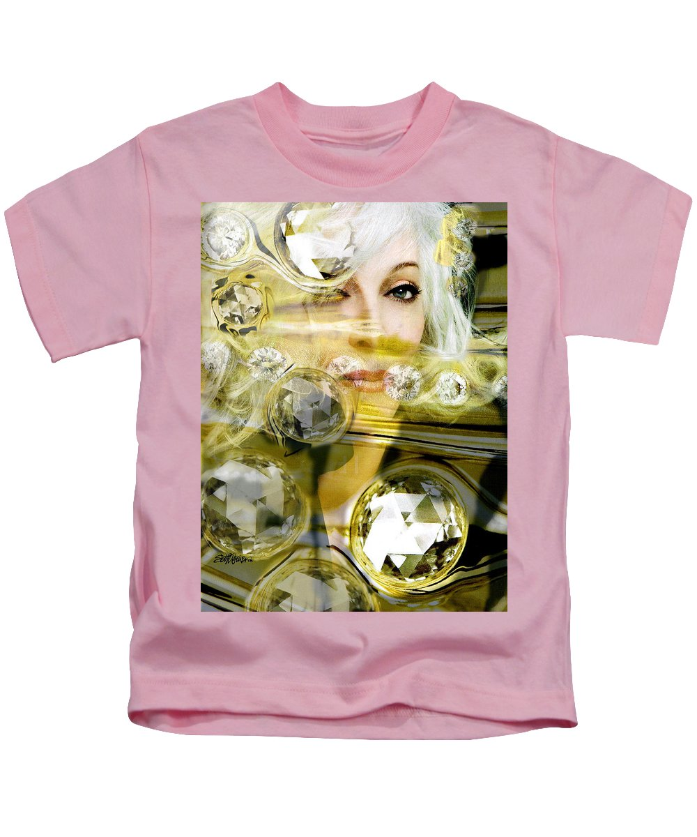 Women Kids T-Shirt featuring the digital art Darling Diamonds by Seth Weaver