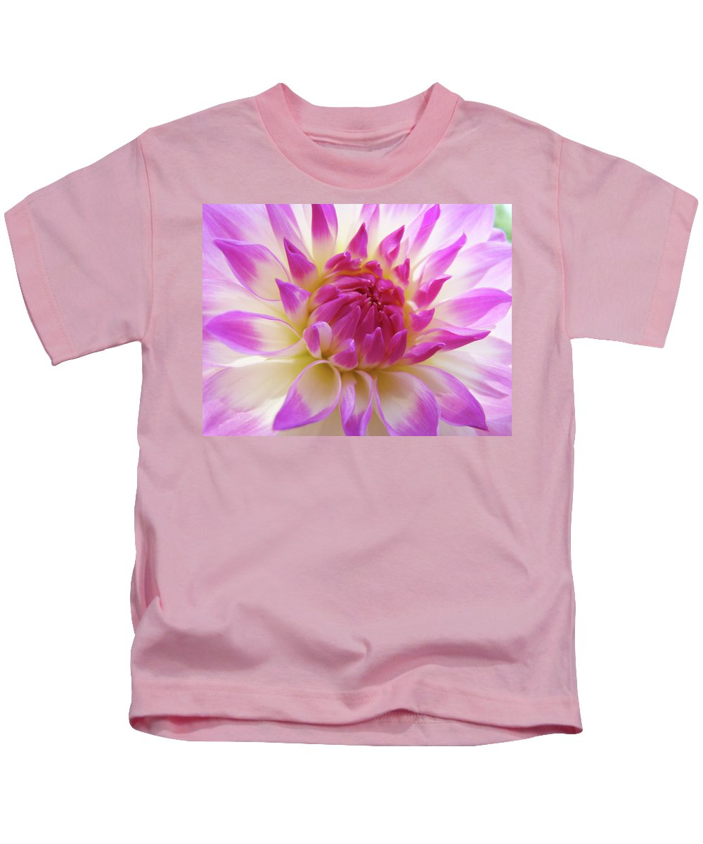 Dahlia Kids T-Shirt featuring the photograph Dinner Plate Dahlia Flower Art Prints Canvas Floral Baslee Troutman by Baslee Troutman