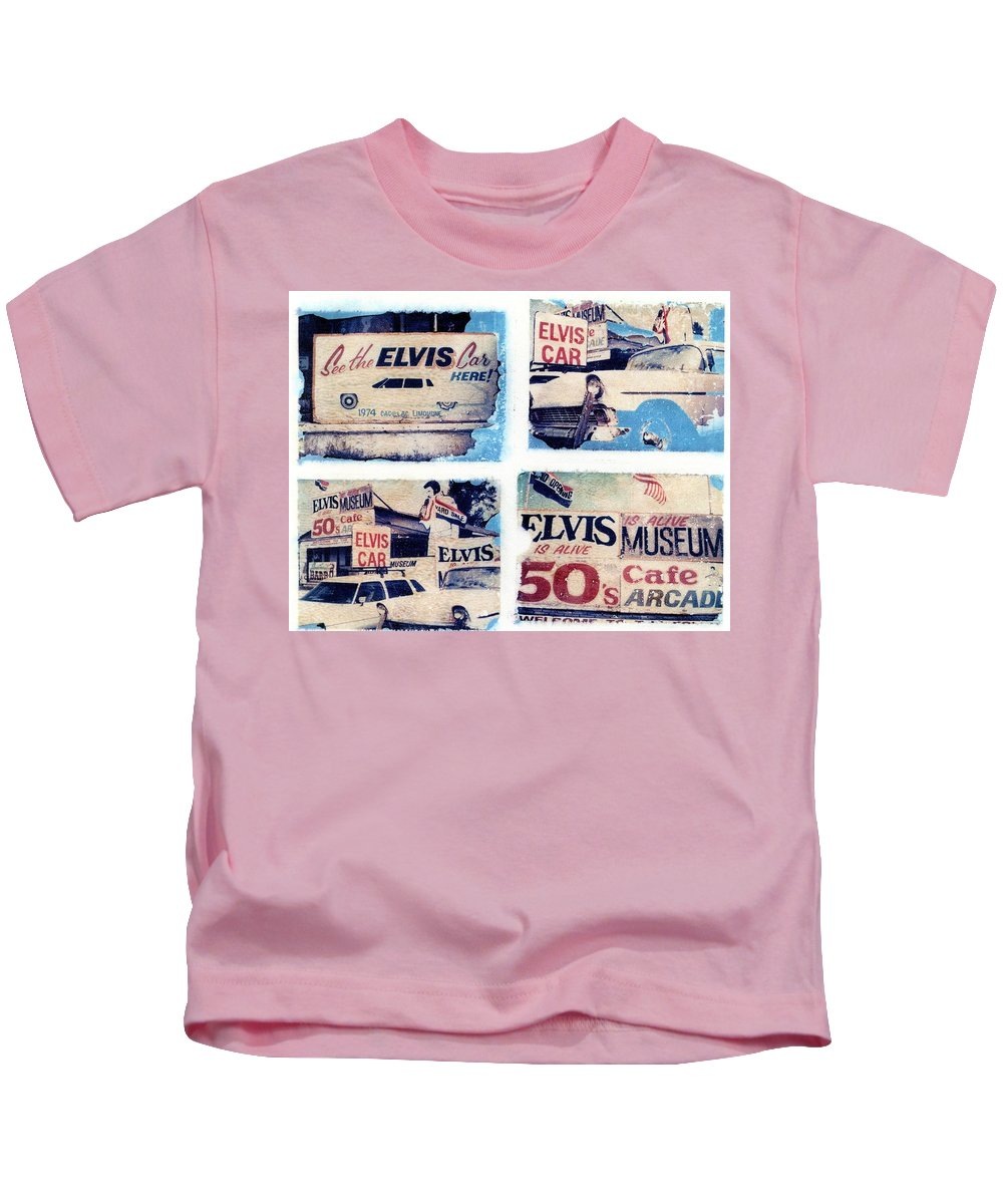 Elvis Kids T-Shirt featuring the photograph Disgraceland by Jane Linders