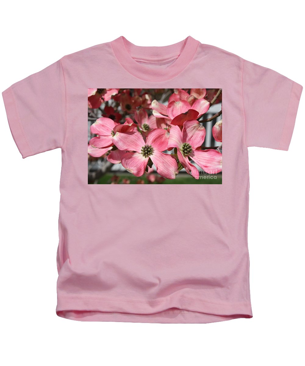Dogwood Kids T-Shirt featuring the photograph Dogwood Blossoms by Carol Groenen