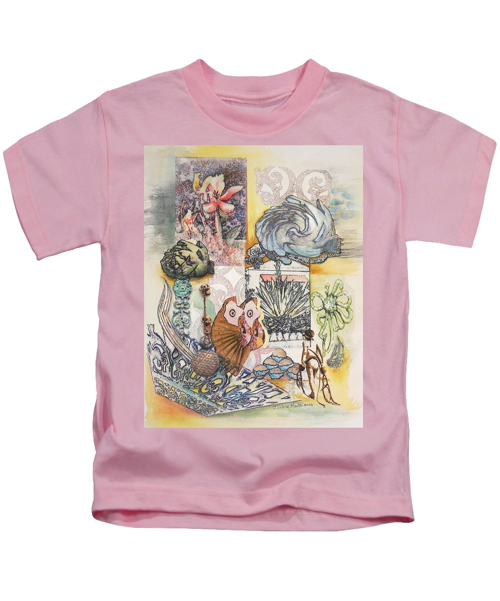 Abstract Kids T-Shirt featuring the painting Don't Artichoke by Valerie Meotti
