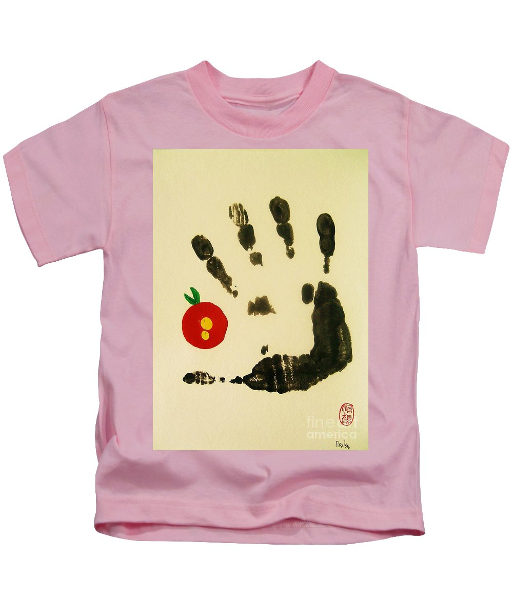 Abstract Kids T-Shirt featuring the painting Don't Touch Me by Roberto Prusso