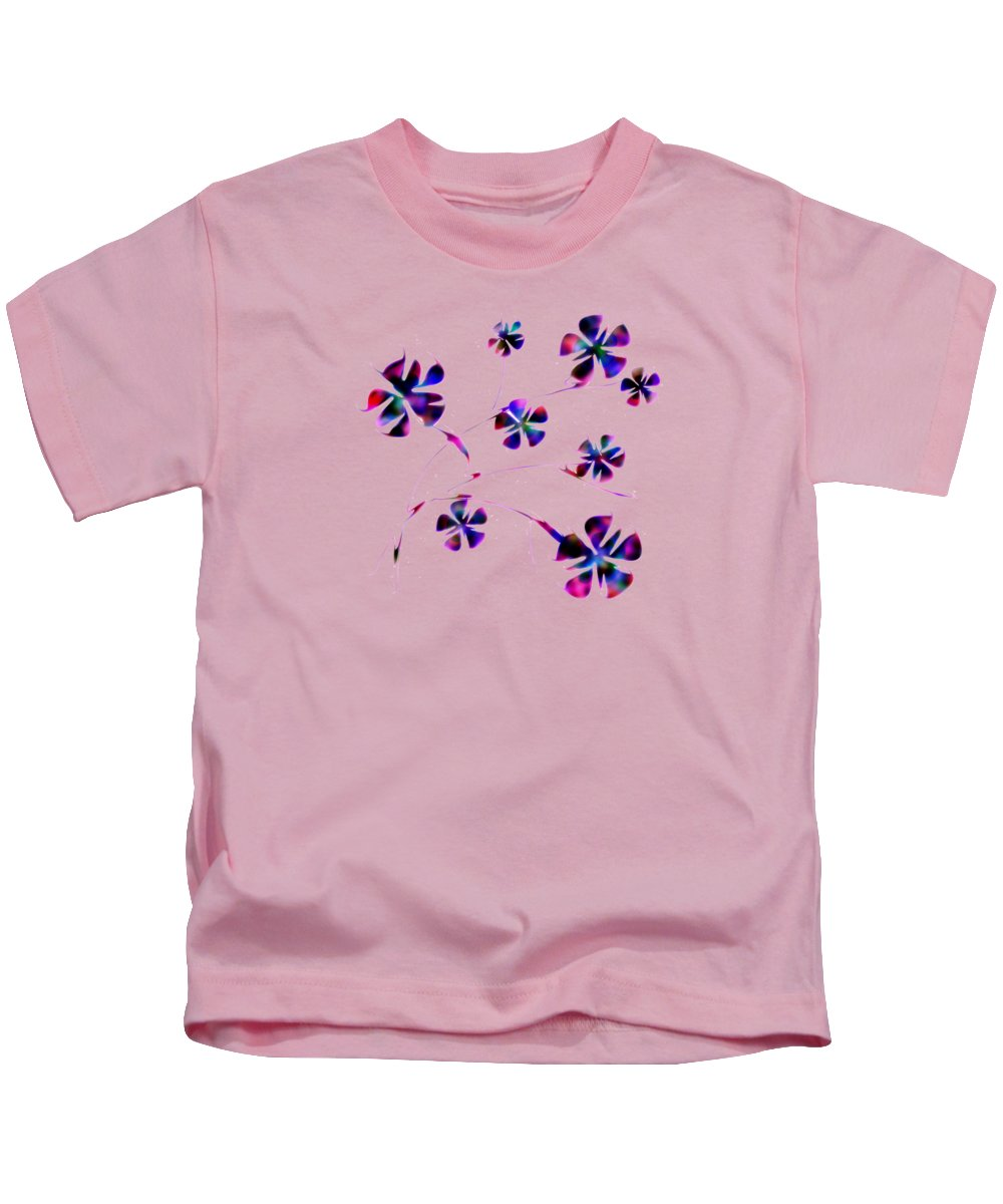 Abstract Kids T-Shirt featuring the digital art Dream Flowers by Anastasiya Malakhova