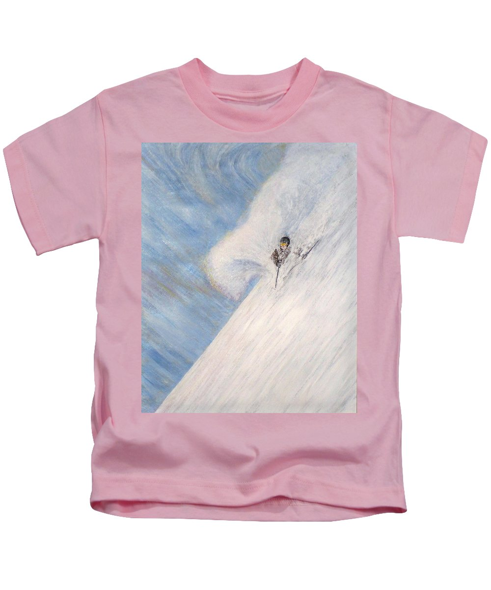 Landscape Kids T-Shirt featuring the painting Dreamsareal by Michael Cuozzo