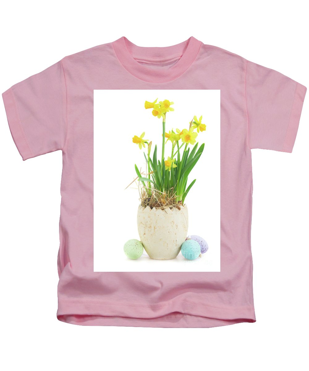 Easter Kids T-Shirt featuring the photograph Easter Eggs Hunt by Anastasy Yarmolovich