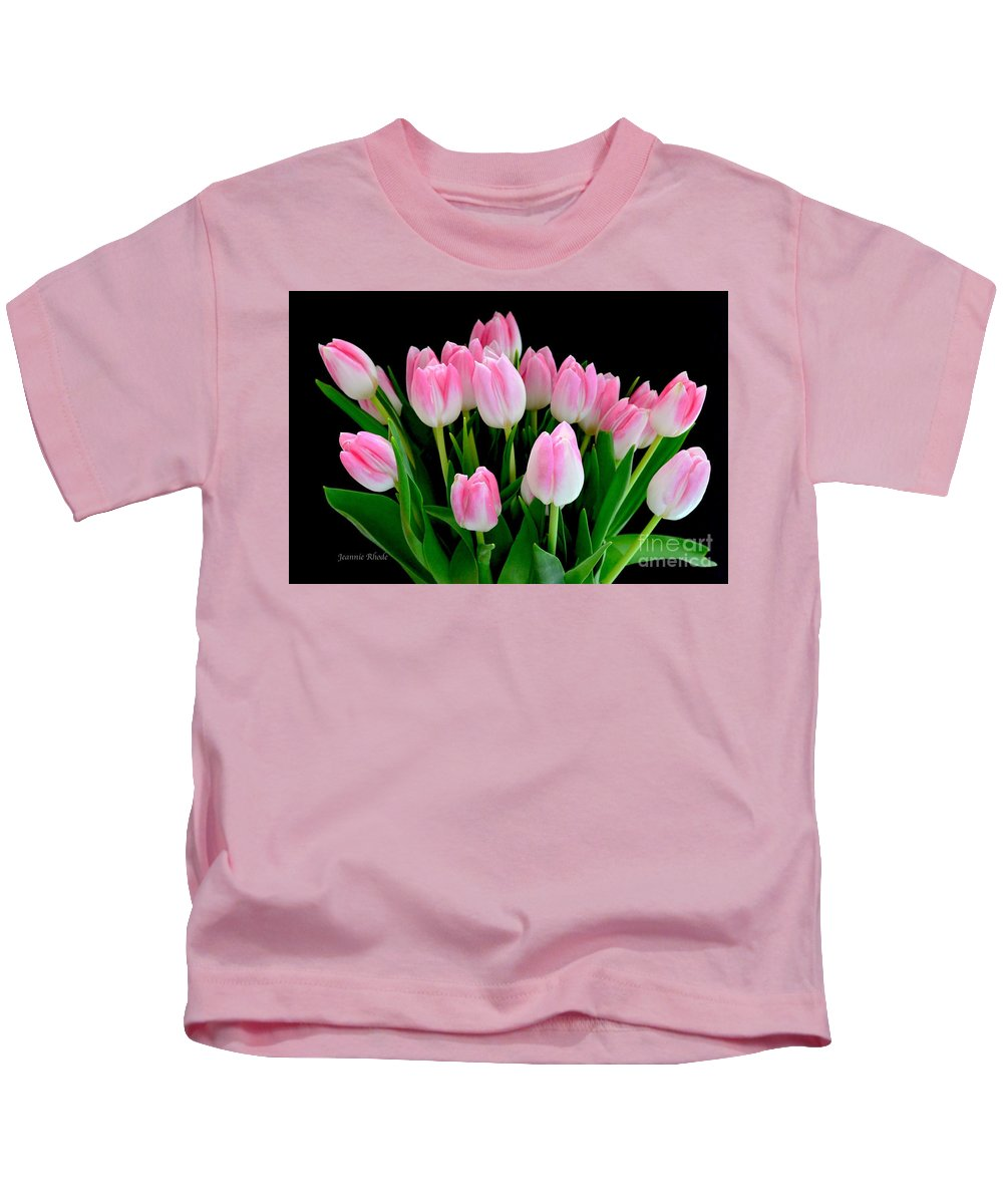 Easter Tulips Kids T-Shirt featuring the photograph Easter Tulips by Jeannie Rhode