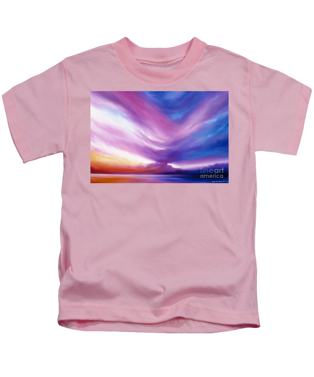 Clouds Kids T-Shirt featuring the painting Ecstacy by James Christopher Hill
