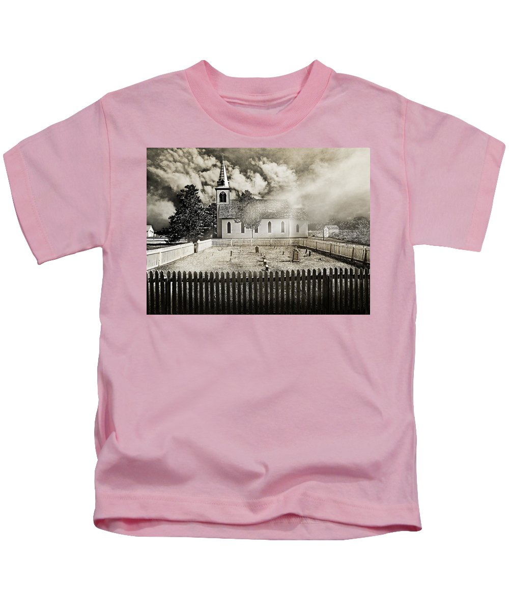 Black And White Kids T-Shirt featuring the photograph Enlightenment by John Anderson