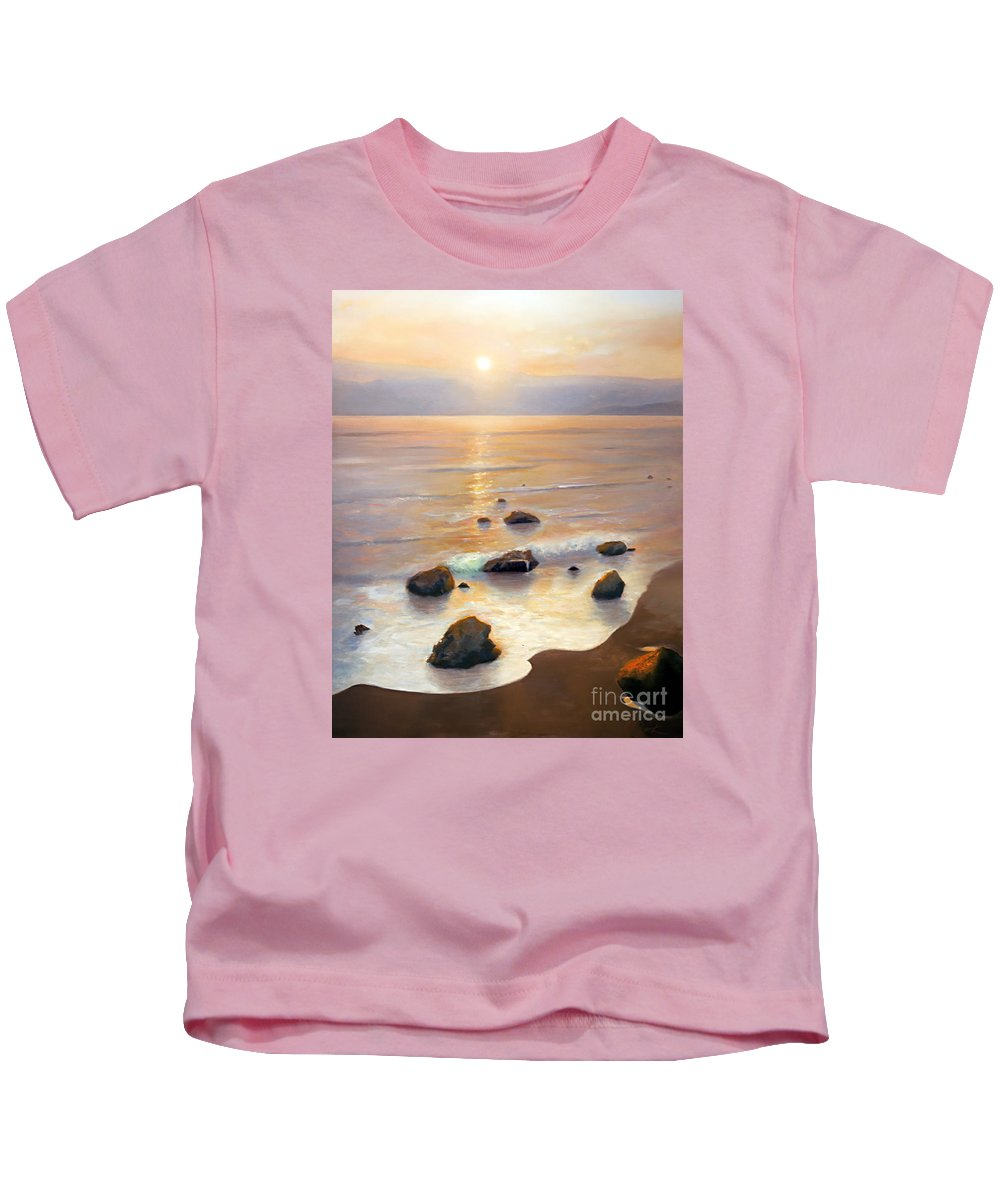 California Art Kids T-Shirt featuring the painting Eventide by Michael Rock