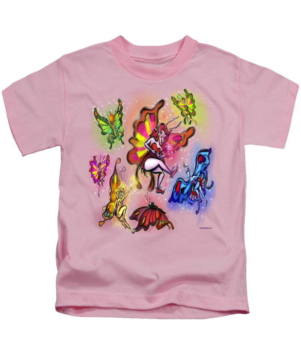 Faeries Kids T-Shirt featuring the painting Faeries by Kevin Middleton