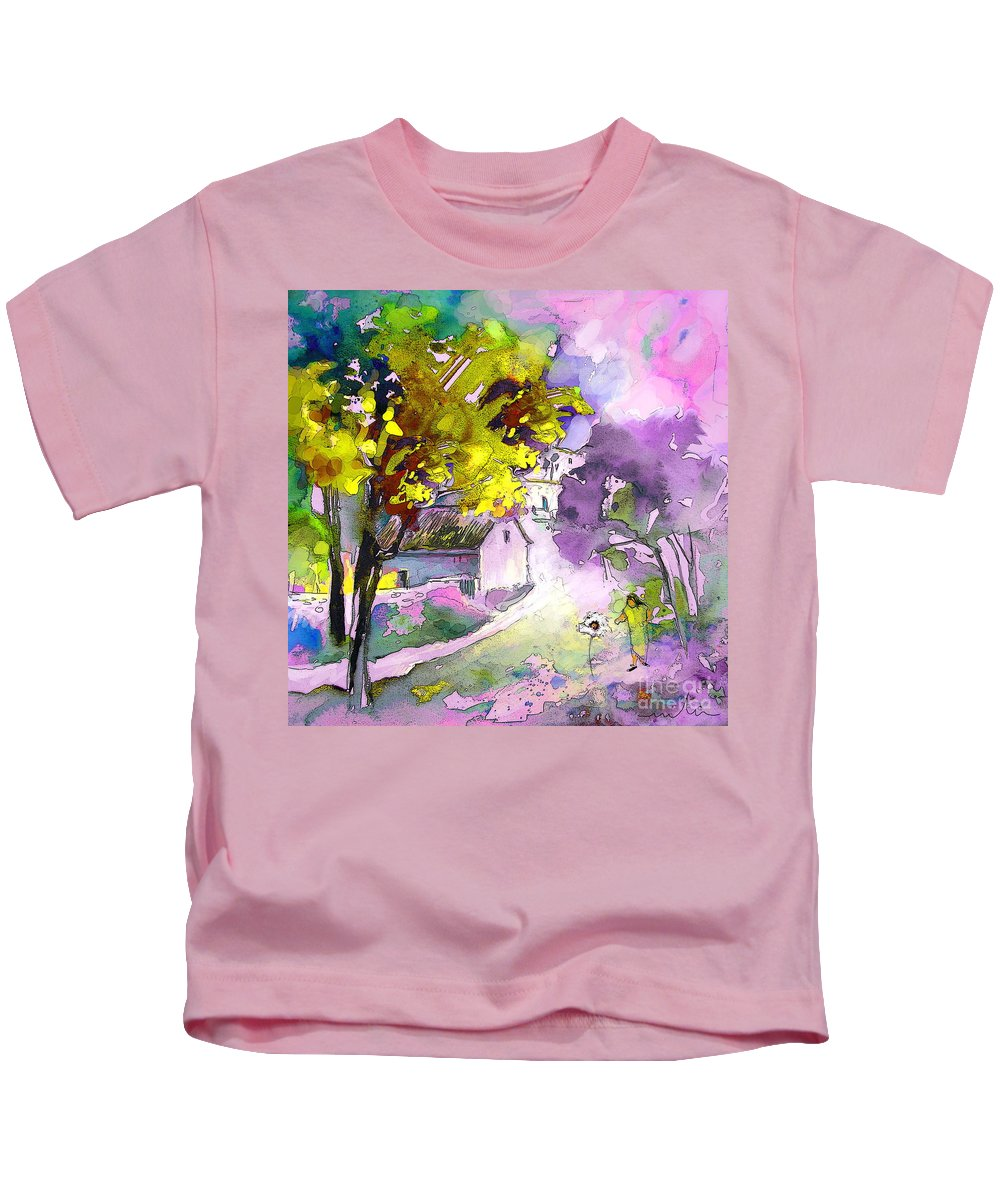 Water Colour Painting Kids T-Shirt featuring the painting Fantaquarelle 06 by Miki De Goodaboom