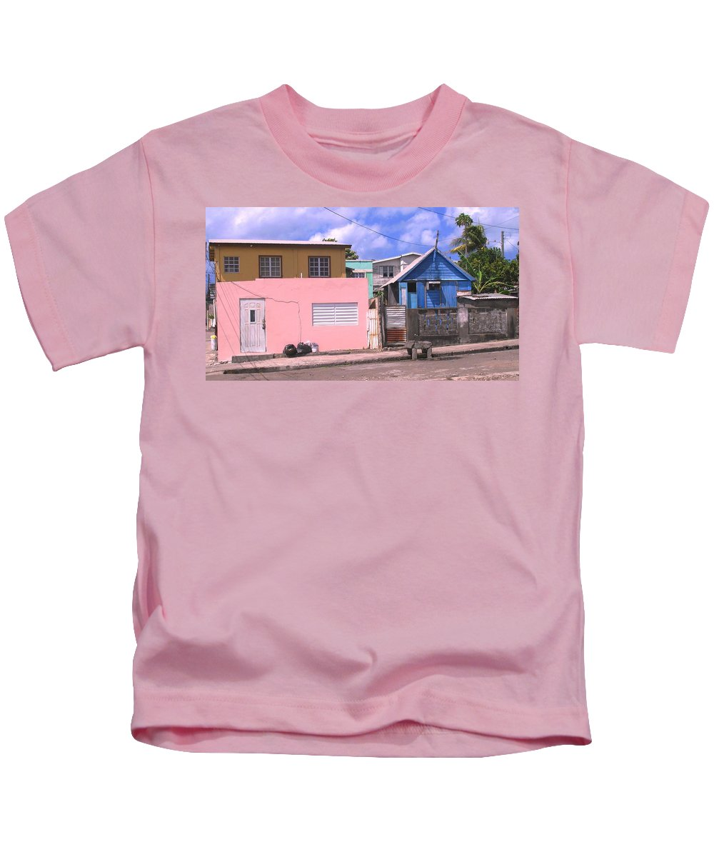 Basseterre Kids T-Shirt featuring the photograph Far From Dull by Ian MacDonald