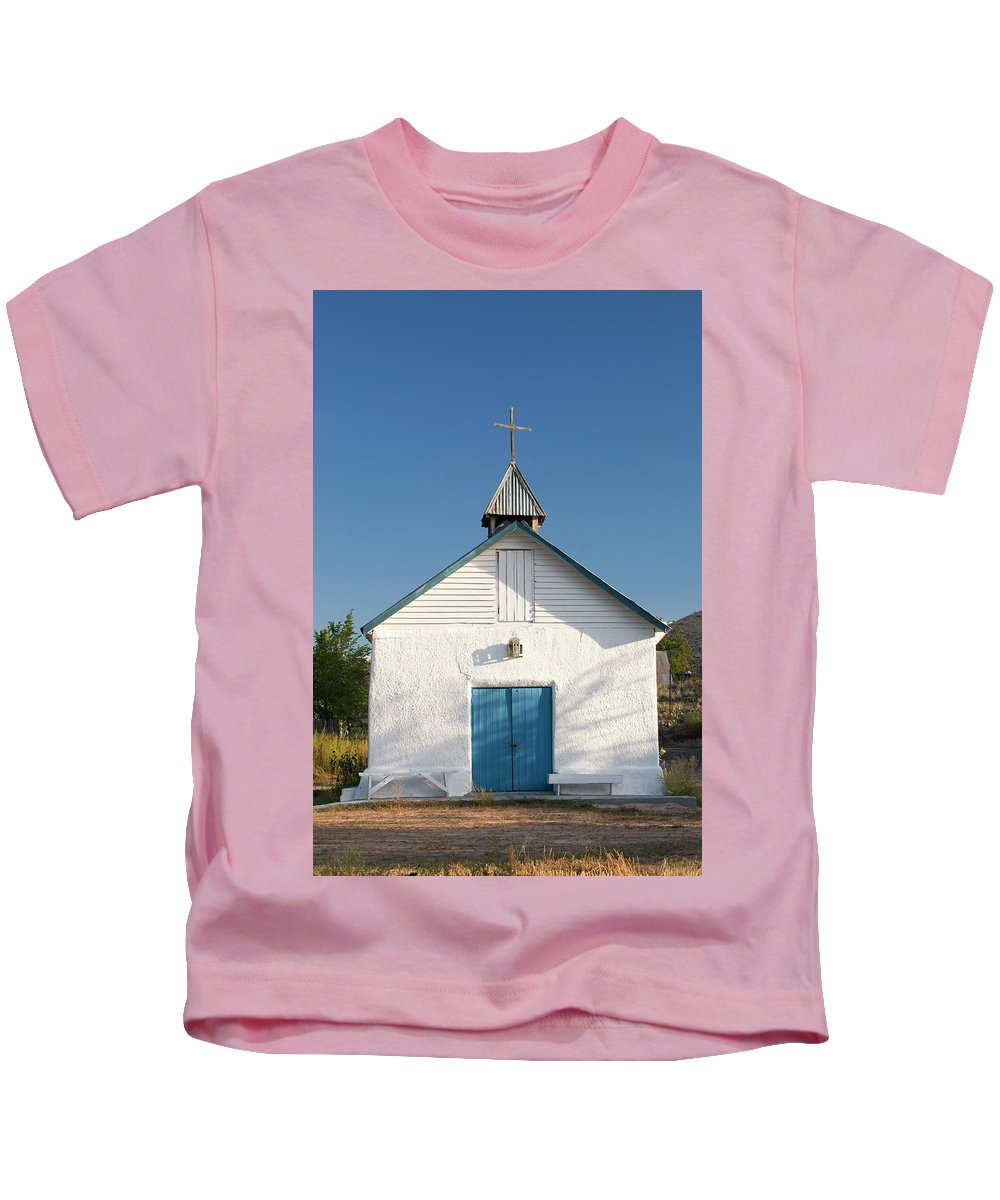 Southwest Kids T-Shirt featuring the photograph First Service by Jim Benest