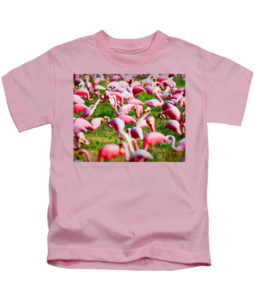 Austin Kids T-Shirt featuring the photograph Flamingo 6 by Sean Wray