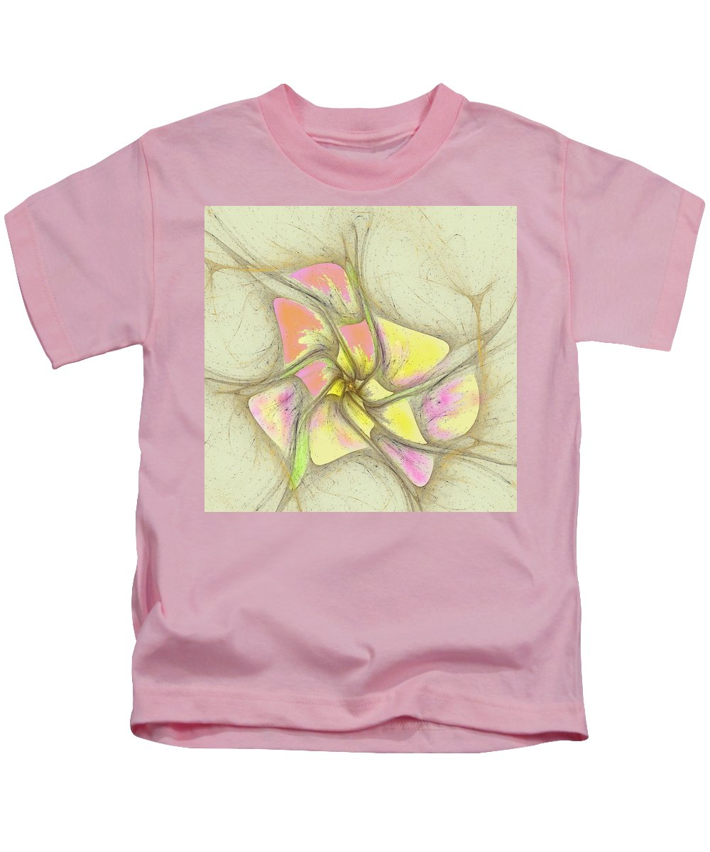 Kids T-Shirt featuring the digital art Floral 2-19-10-a by David Lane