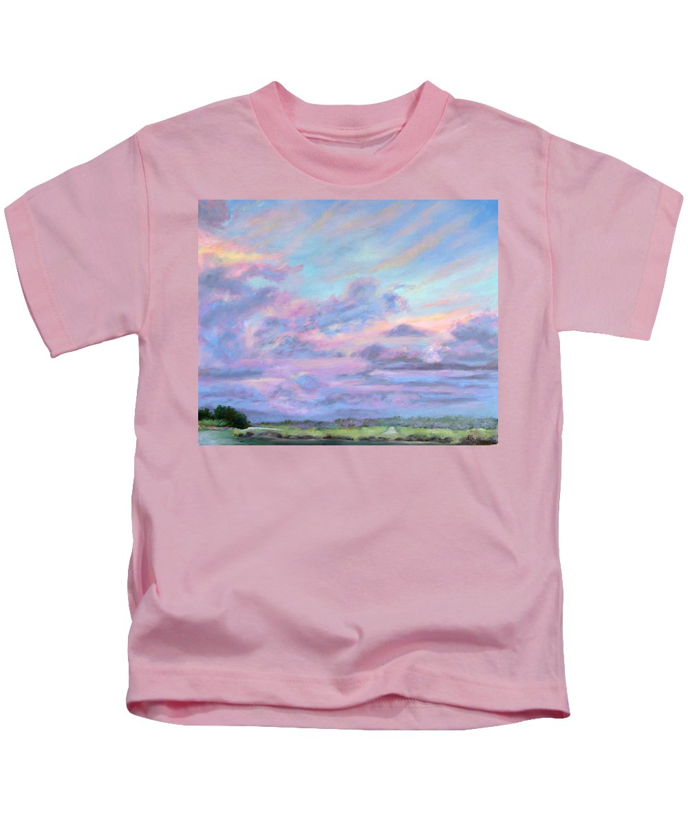 Florida Kids T-Shirt featuring the painting Florida Flats by Diane Martens