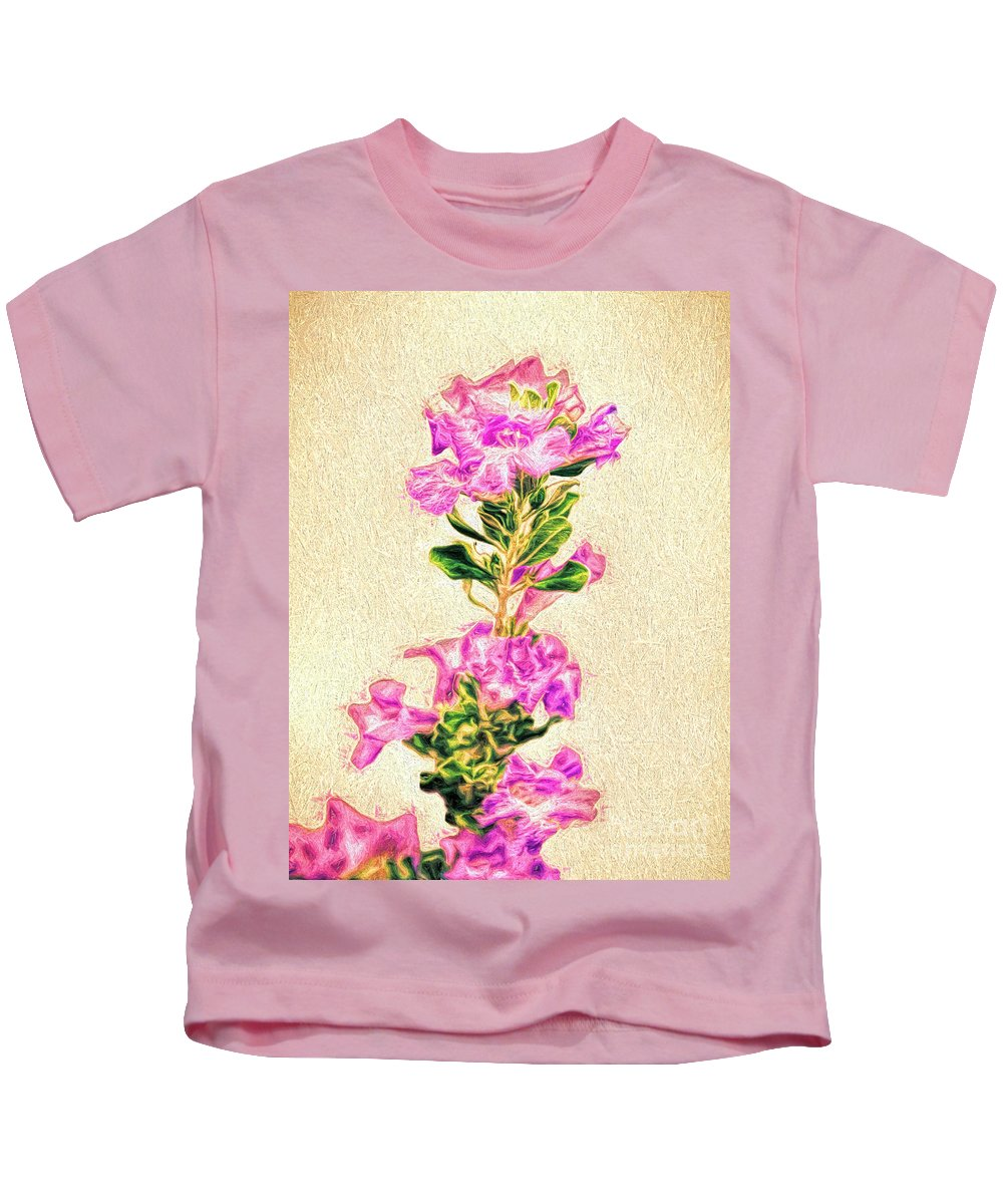 Flower Kids T-Shirt featuring the photograph Flower-j by Larry White