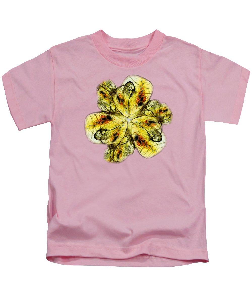 Malakhova Kids T-Shirt featuring the digital art Flower Sketch by Anastasiya Malakhova