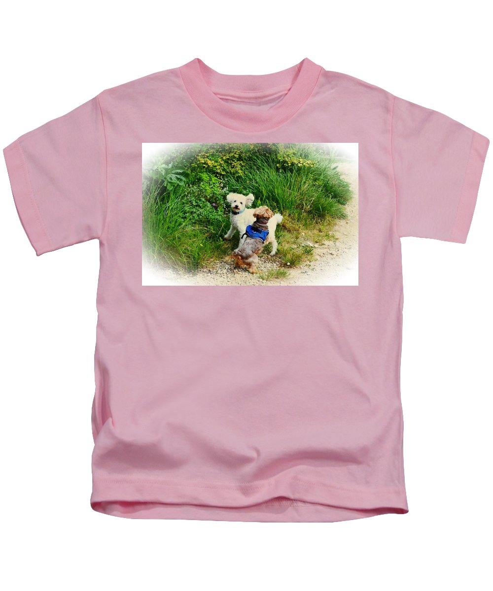 Troy Kids T-Shirt featuring the photograph For The Love Of Troy by Louisa Catharine