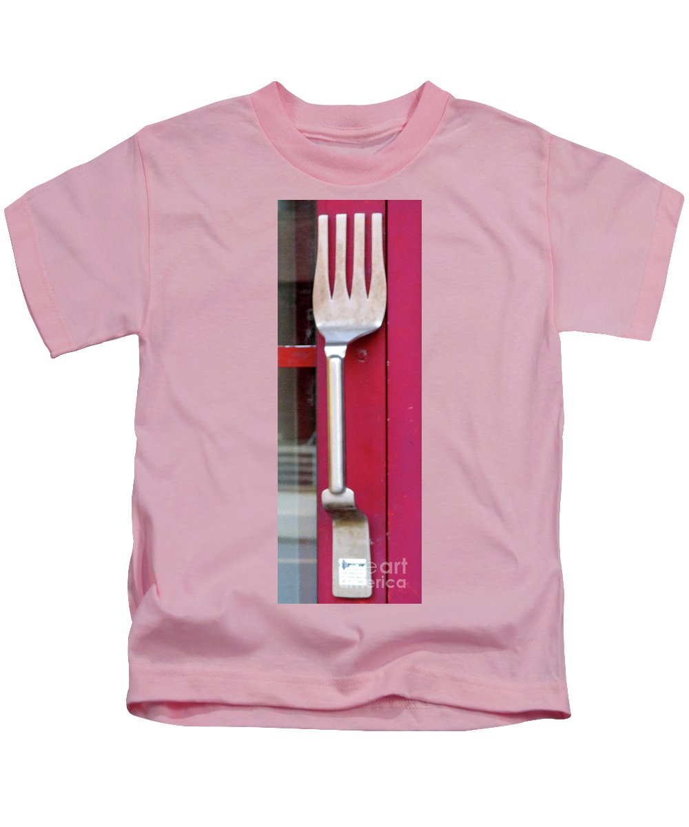 Fork Kids T-Shirt featuring the photograph Fork Door Handle by Randall Weidner