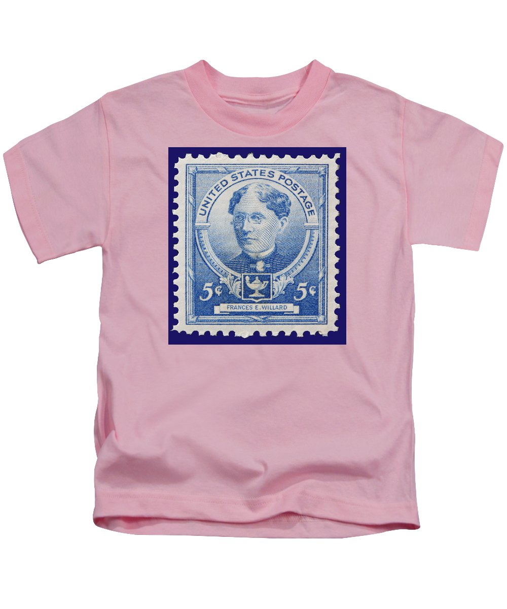 Frances E Willard Postage Stamp Kids T-Shirt featuring the photograph Frances E Willard Postage Stamp by James Hill