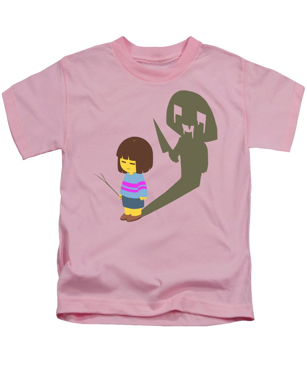 Undertale Kids T-Shirt featuring the digital art Frisk by Rene Gut