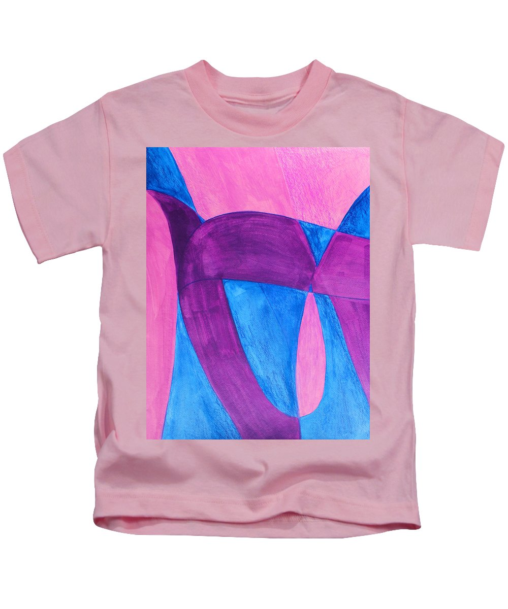 Abstract Kids T-Shirt featuring the painting Fun In Abstract Word Art by Lee Serenethos