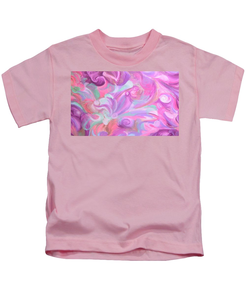 Kids T-Shirt featuring the painting Fun Venture by Subbora Jackson