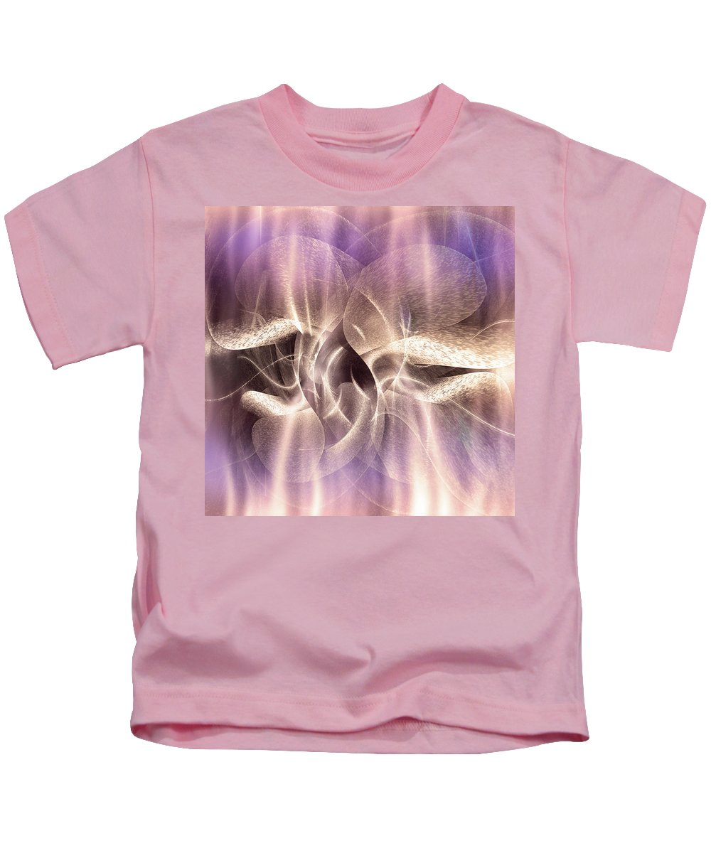 Digital Kids T-Shirt featuring the digital art Funghi In Rays by Andy Young
