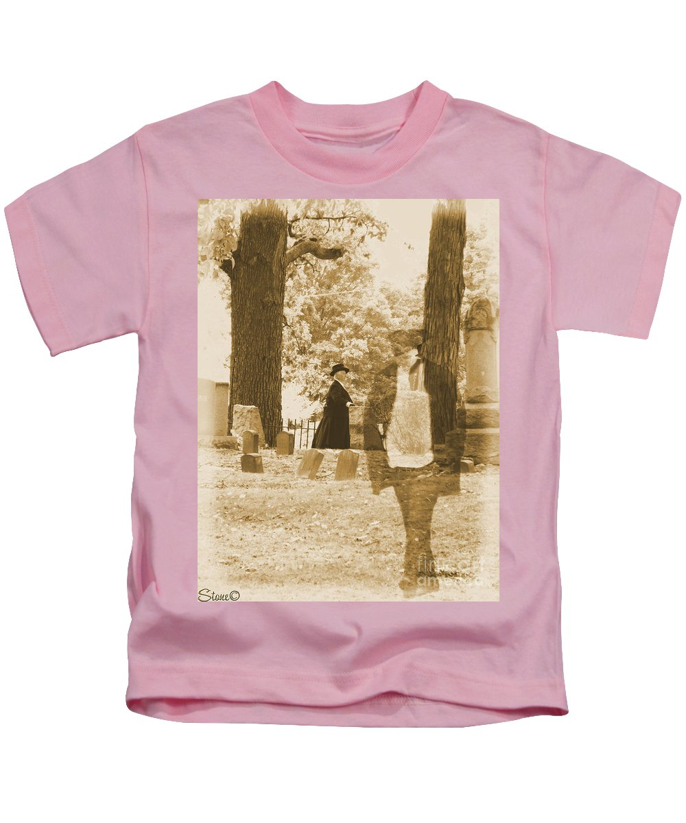 Art Kids T-Shirt featuring the photograph Ghost In The Graveyard by September Stone