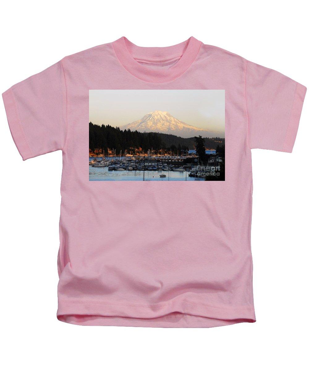 Gig Harbor Washington Kids T-Shirt featuring the photograph Gig Harbor by David Lee Thompson