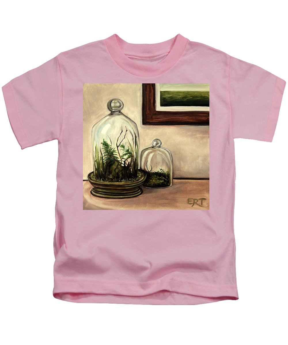 Glass Kids T-Shirt featuring the painting Glass Terrariums by Elizabeth Robinette Tyndall