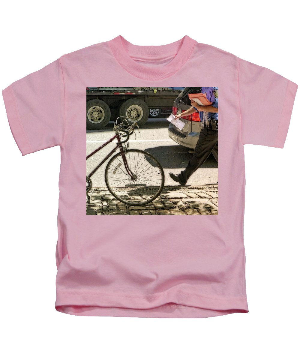 Fifth Avenue Kids T-Shirt featuring the photograph Going Against Traffic by Cheryl Kurman