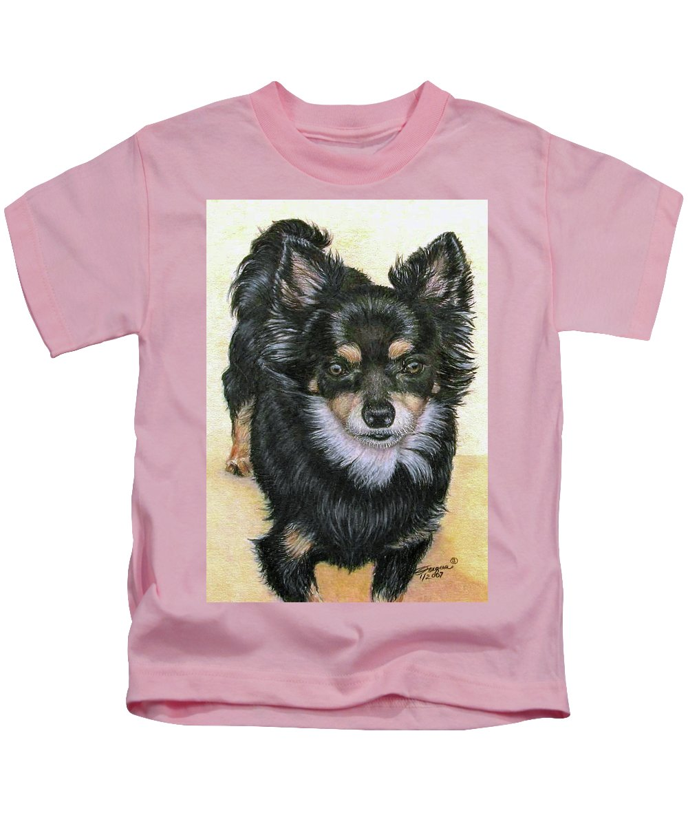 Fuqua Gallery-bev-artwork Kids T-Shirt featuring the drawing Good Golly Miss Molly by Beverly Fuqua