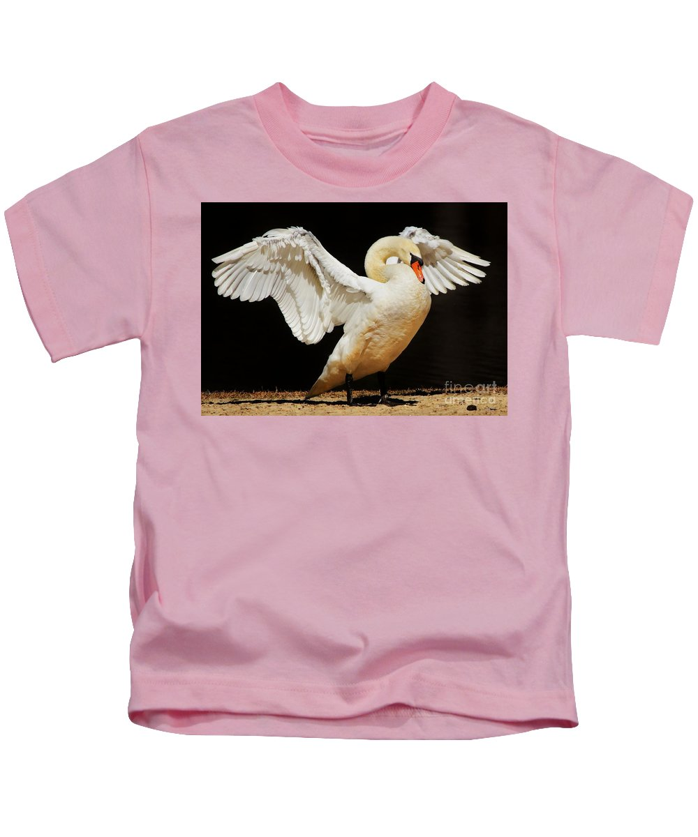 Swan Kids T-Shirt featuring the photograph Gorgeous Swan by Paulette Thomas