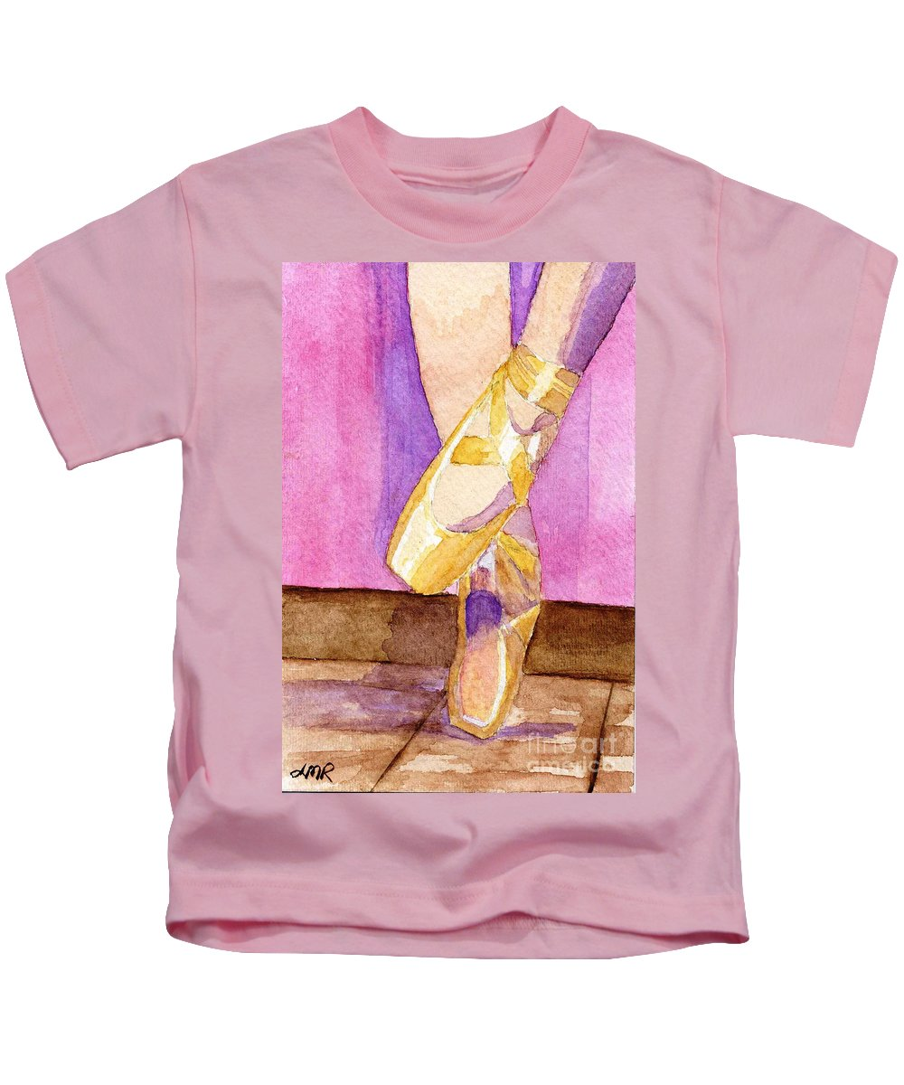 Watercolor Kids T-Shirt featuring the painting Gotta Dance by Lynne Reichhart