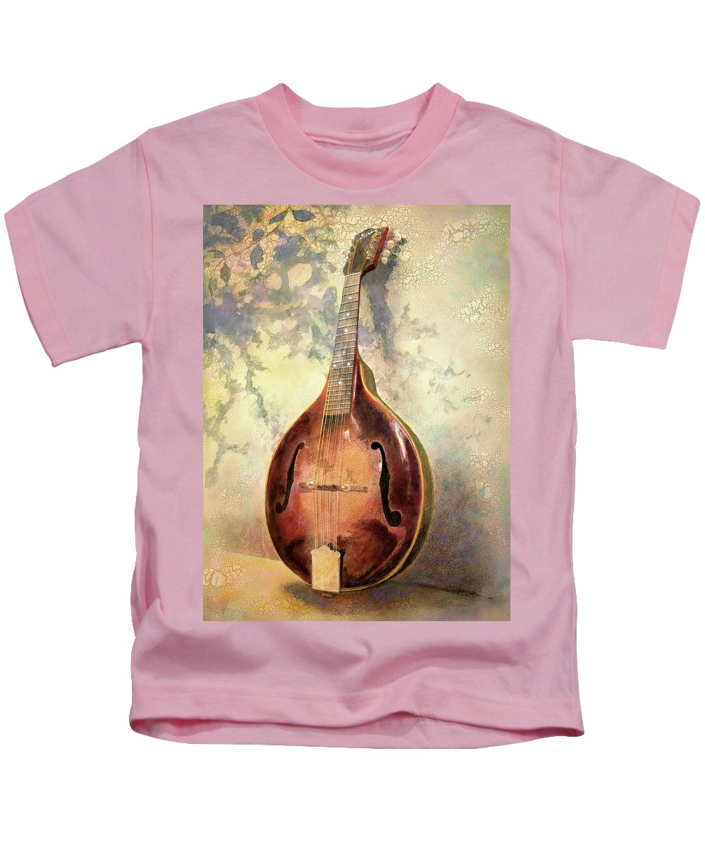 Mandolin Kids T-Shirt featuring the painting Grandaddy's Mandolin by Andrew King