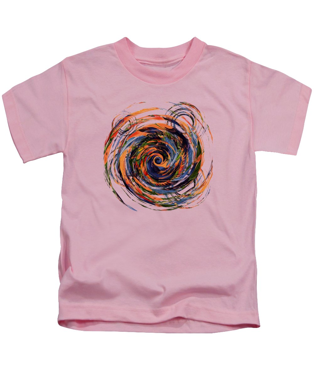 Abstract Kids T-Shirt featuring the digital art Gravity In Color by Deborah Smith