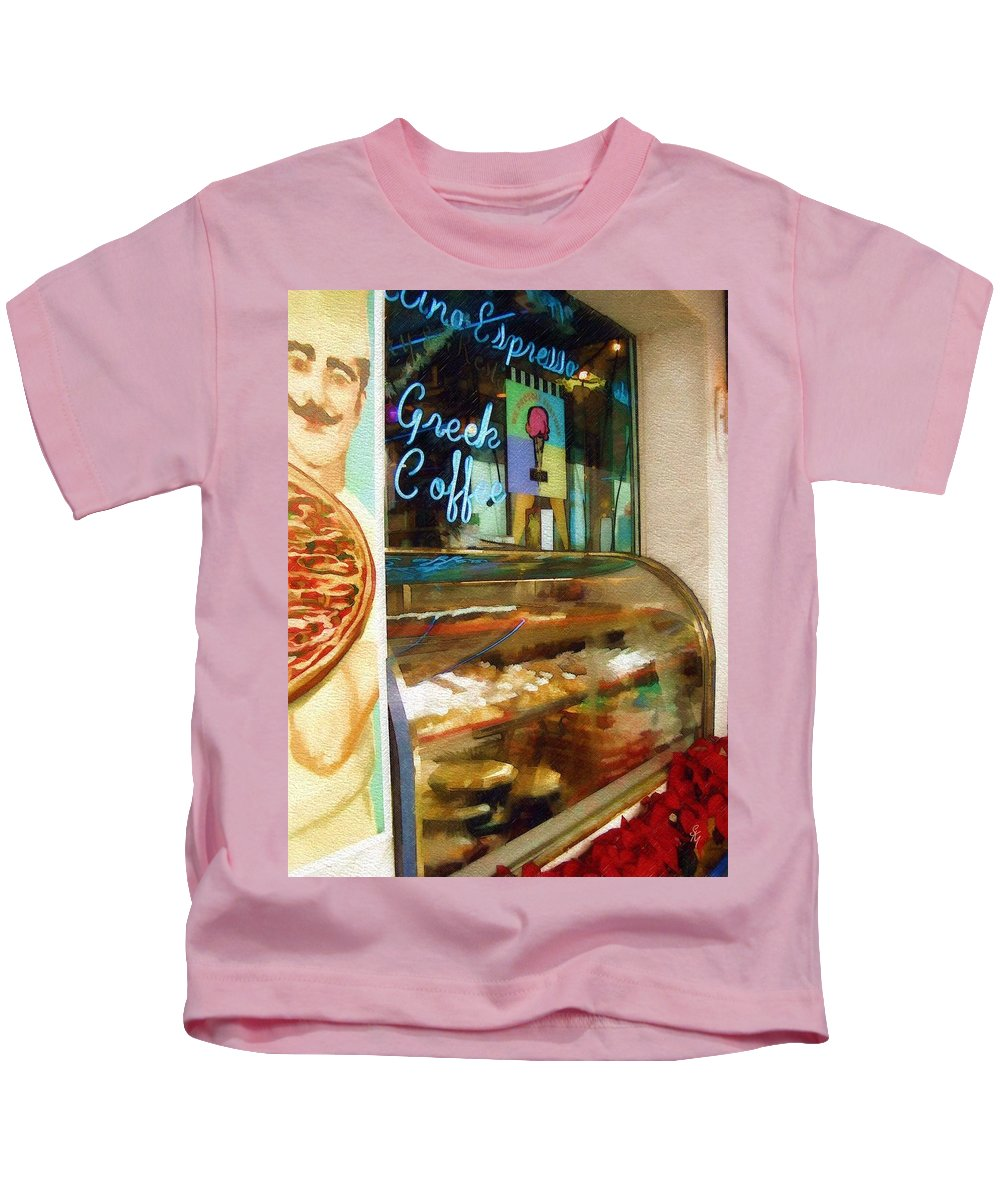 Greek Kids T-Shirt featuring the photograph Greek Coffee by Sandy MacGowan