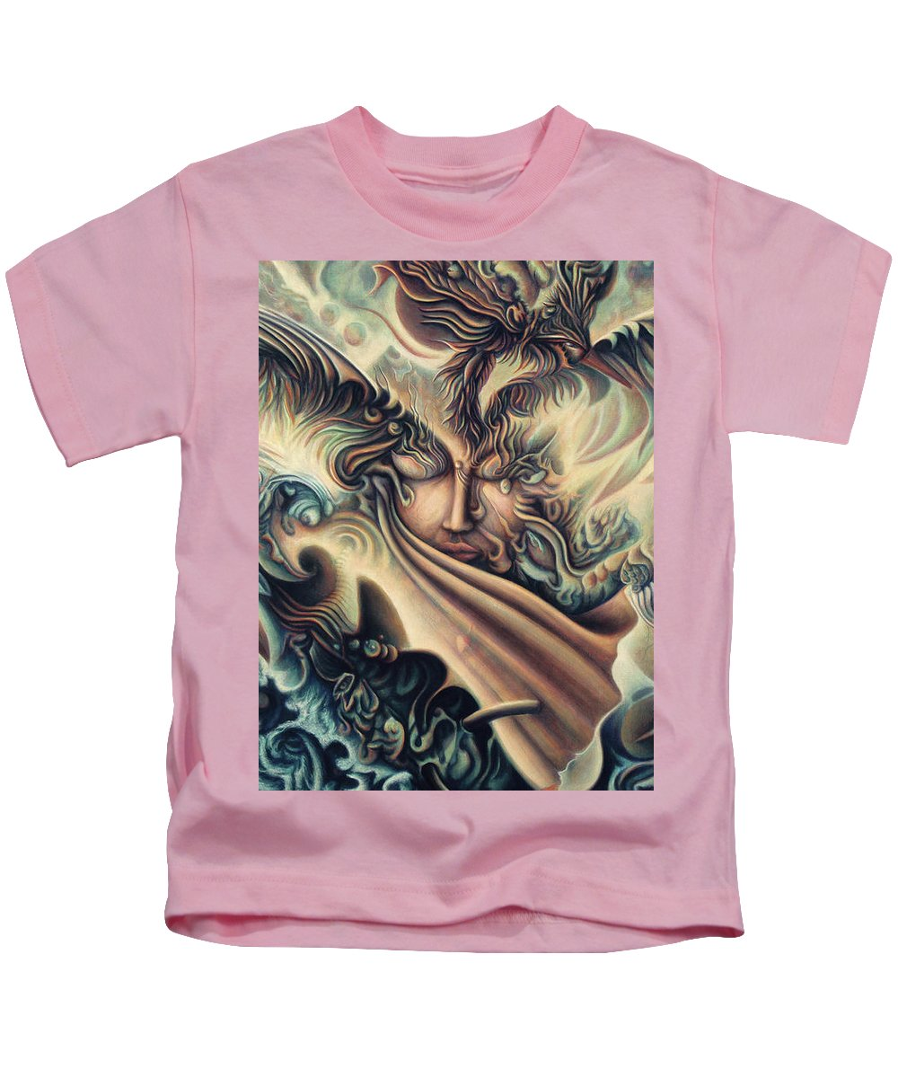 Spiritual Kids T-Shirt featuring the painting Hansa Swann by Nad Wolinska
