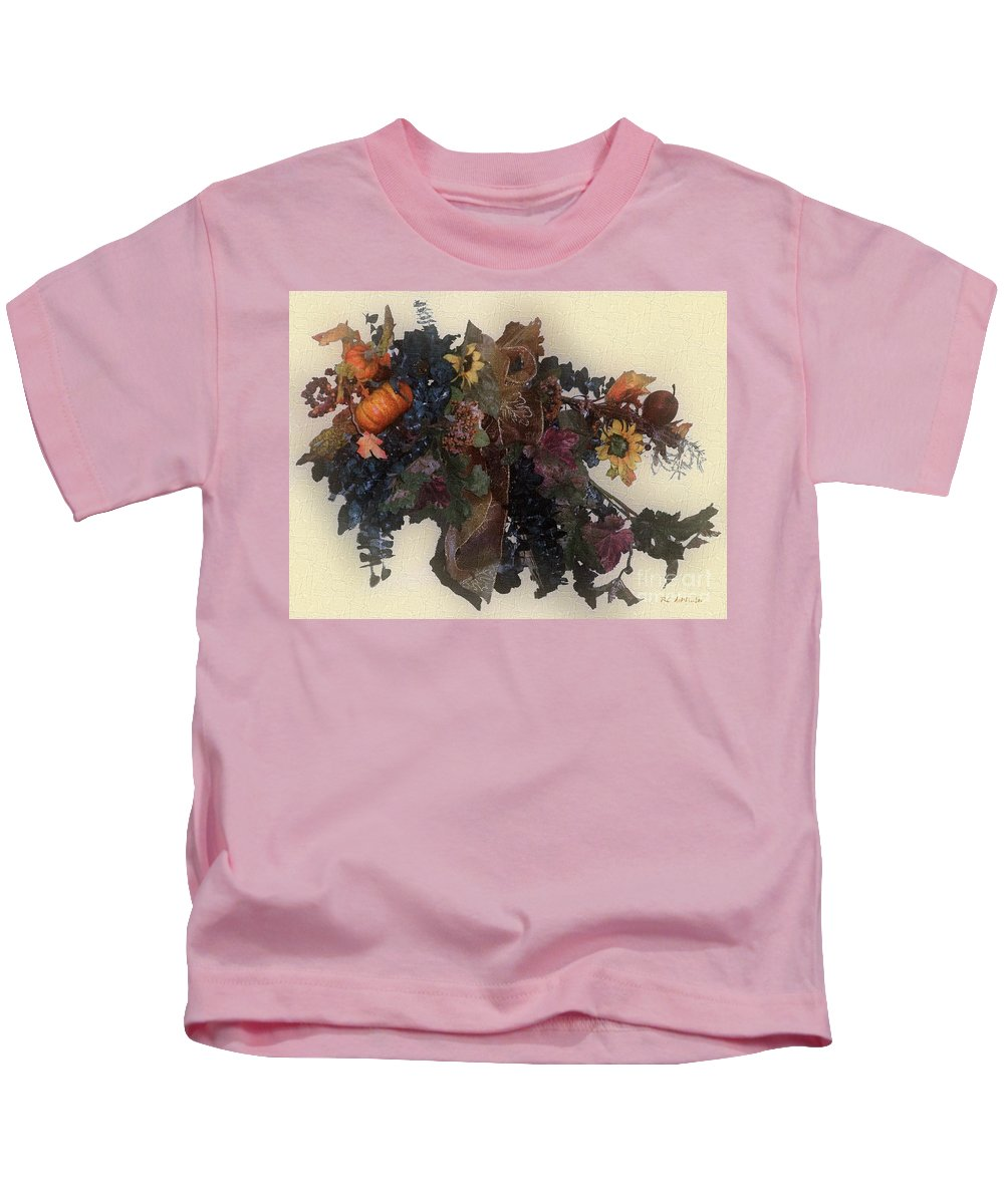 Autumn Kids T-Shirt featuring the painting Harvest Home by RC DeWinter