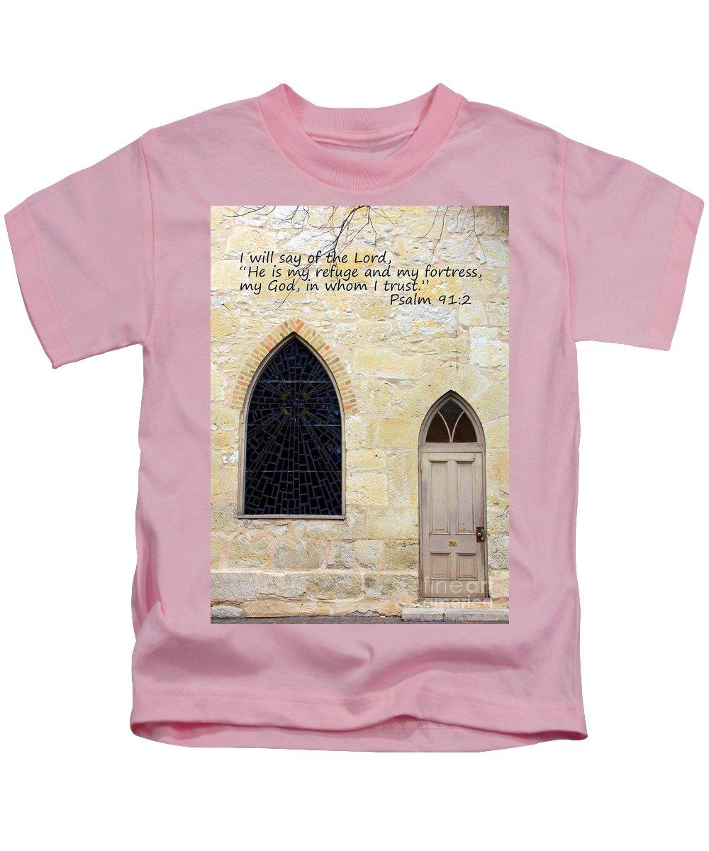 Spiritual Kids T-Shirt featuring the photograph He Is My Refuge by Carol Groenen