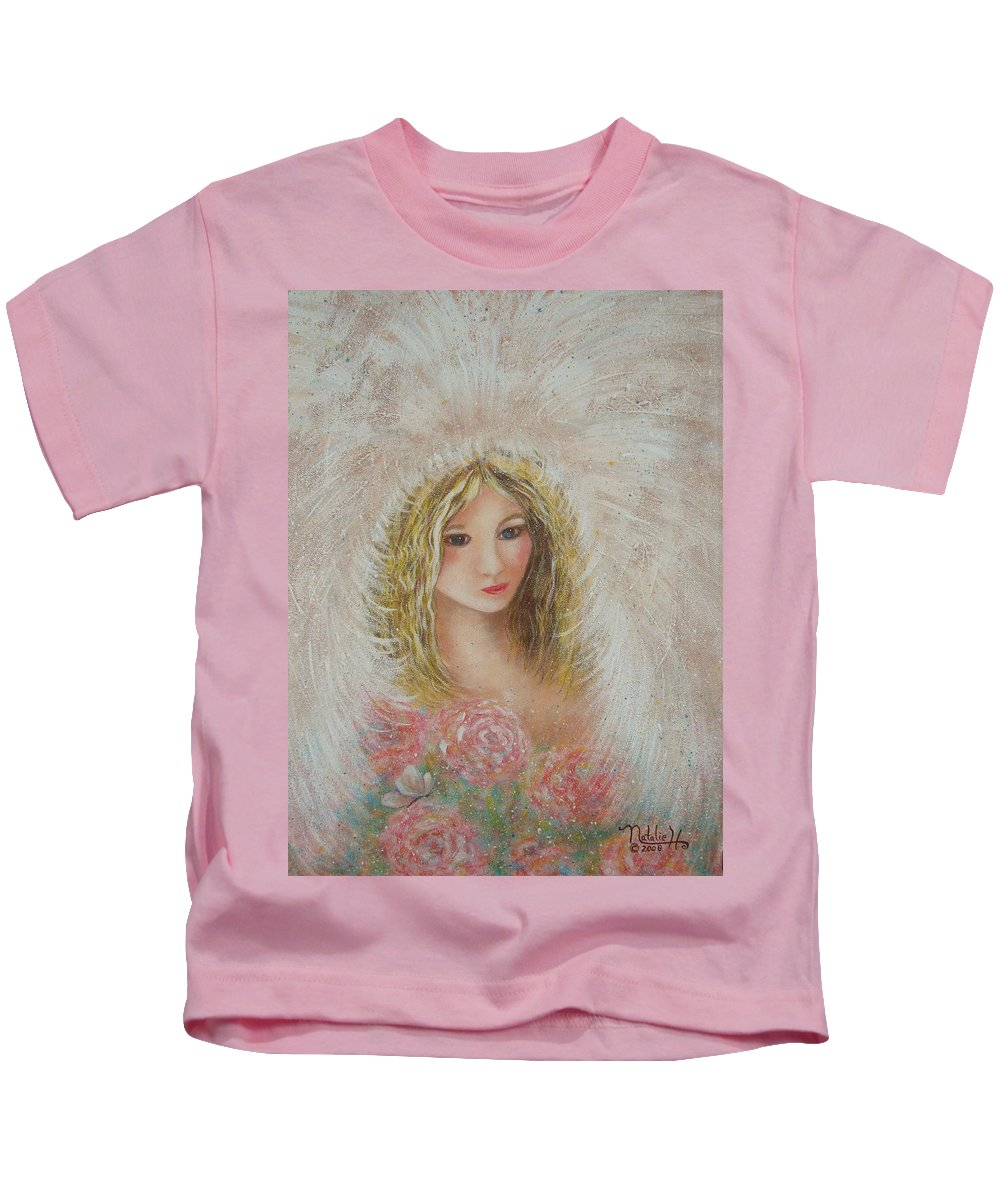 Angel Kids T-Shirt featuring the painting Heavenly Angel by Natalie Holland